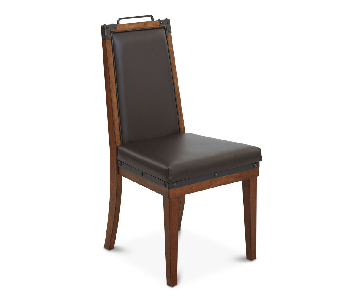 Rustic Leather Dining Chairs insigna dining chair – daniafurniture