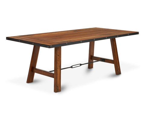 Industrial antique Scandinavian rustic dining table