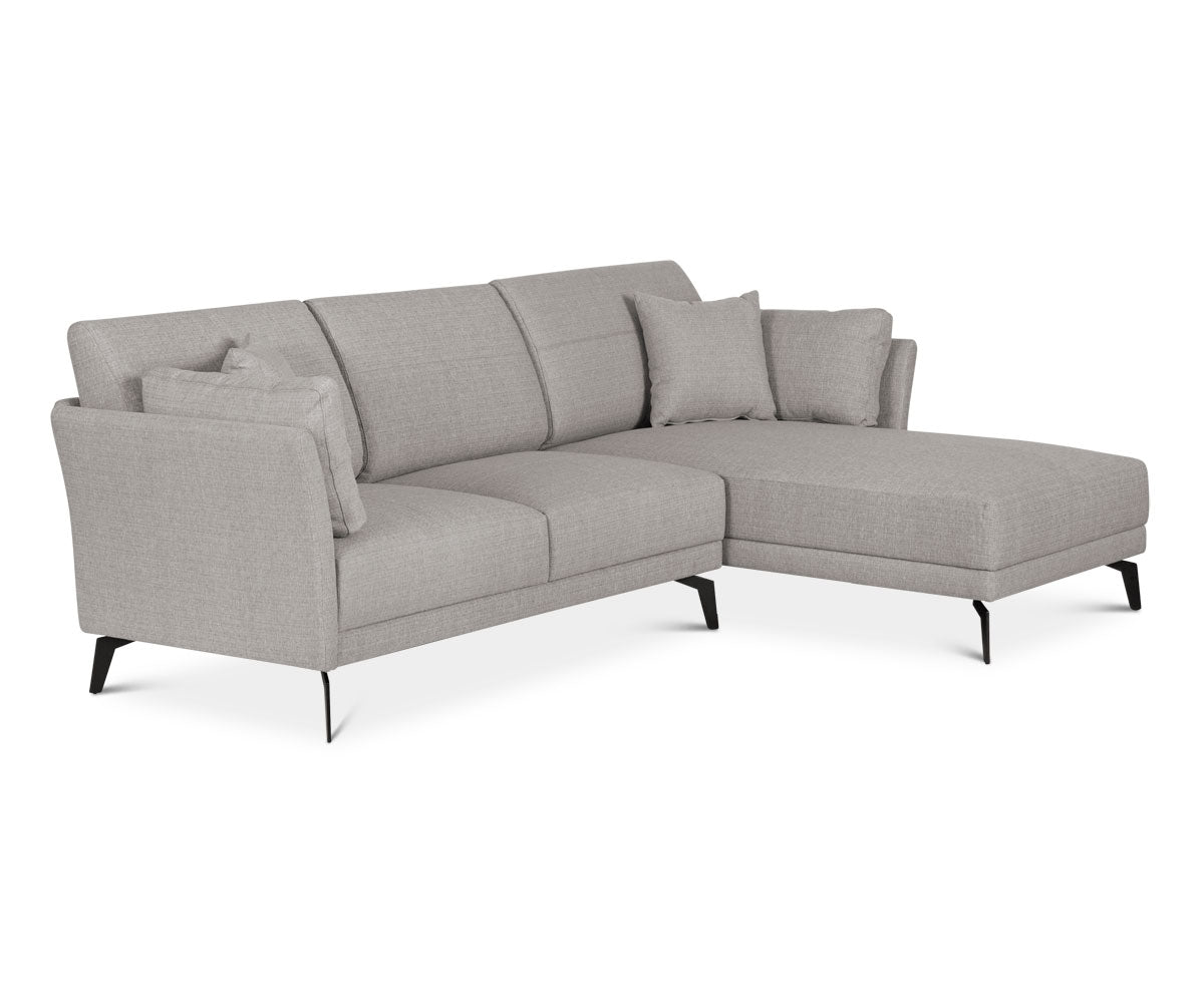 Amazing Renata Right Chaise Sectional   Grey