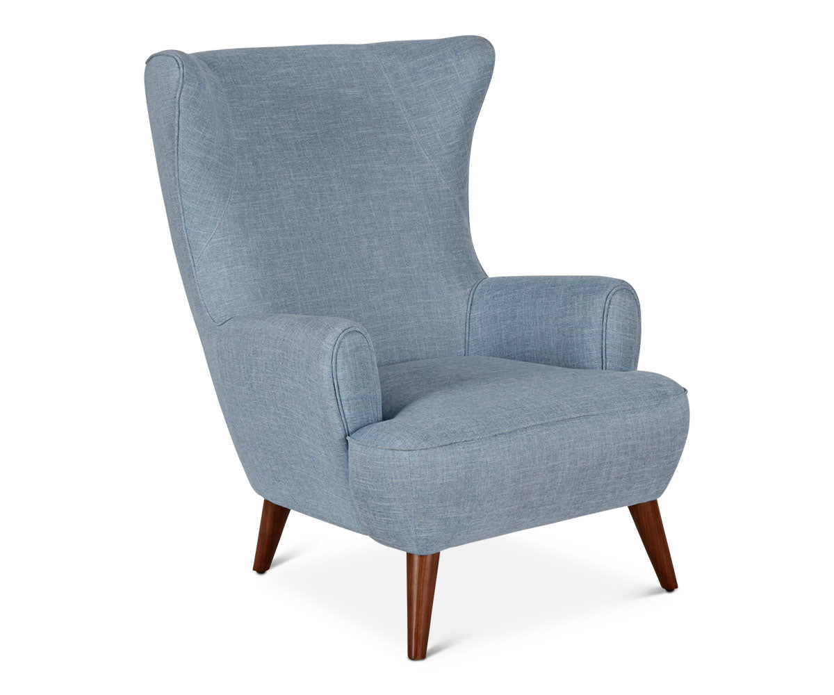 Katja High Back Chair - Blue