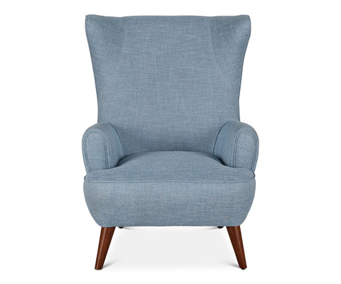 Cozy blue contemporary vintage chair