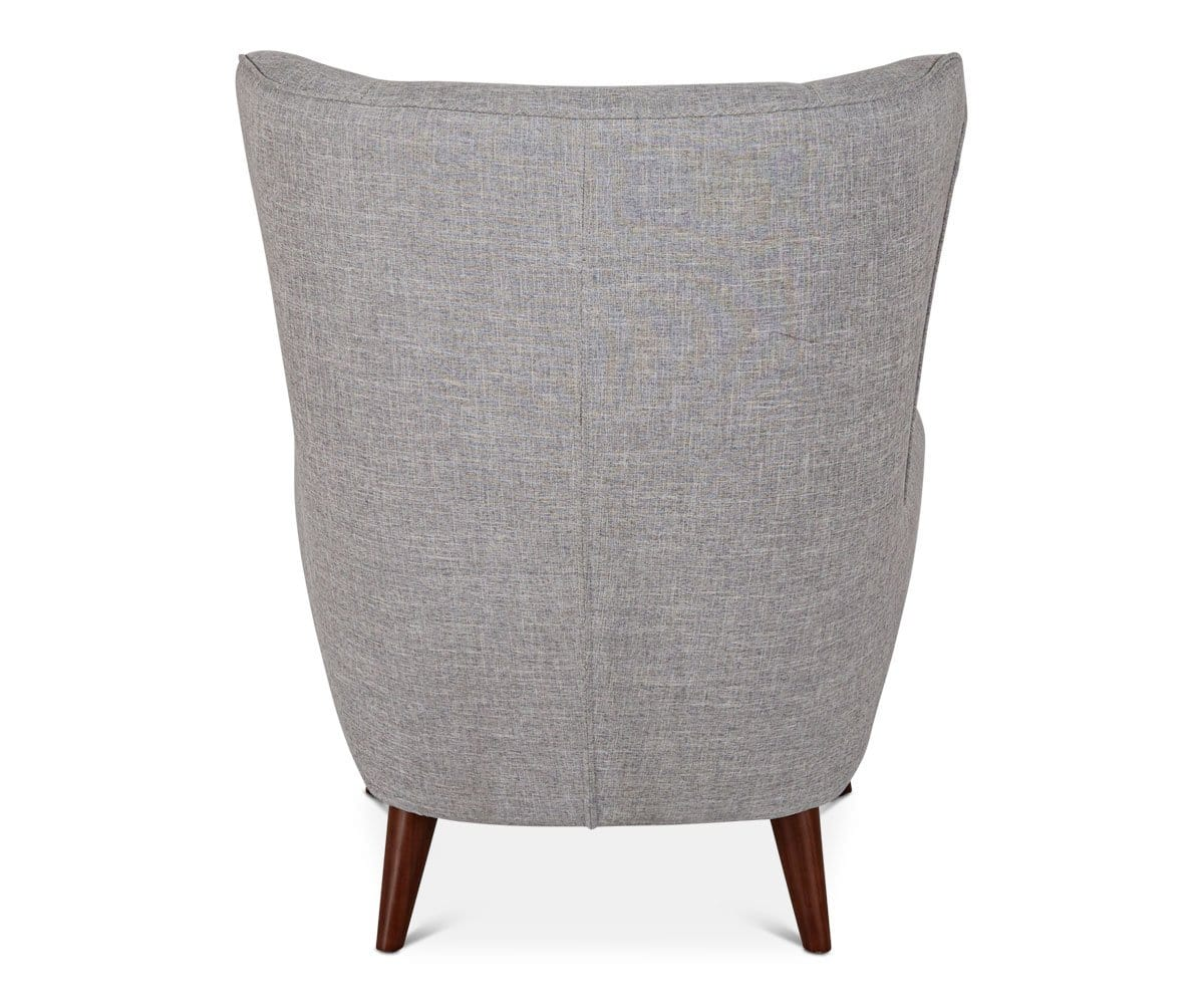 Katja High Back Chair - Grey