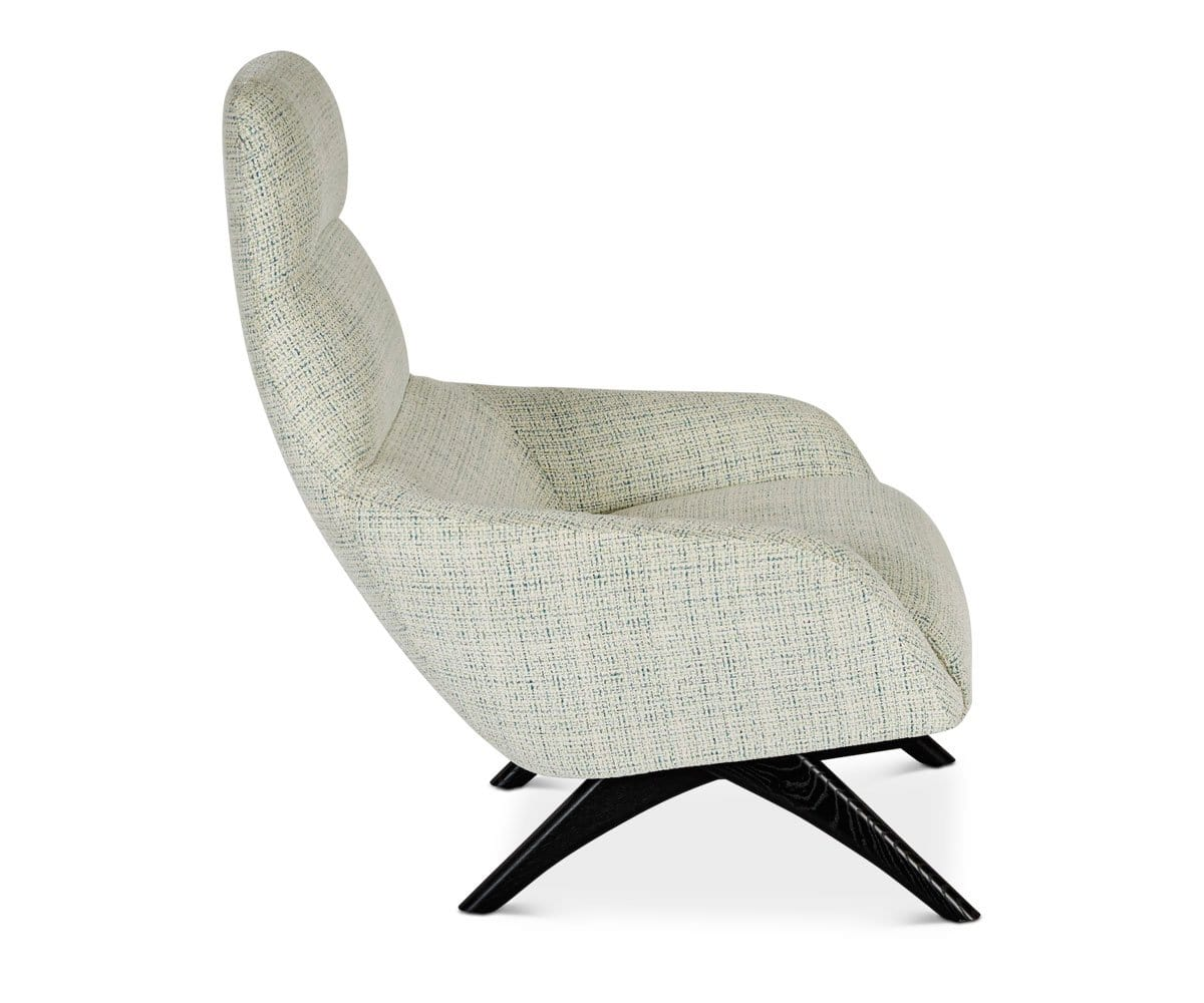 Tailored masculine mid-century modern chair