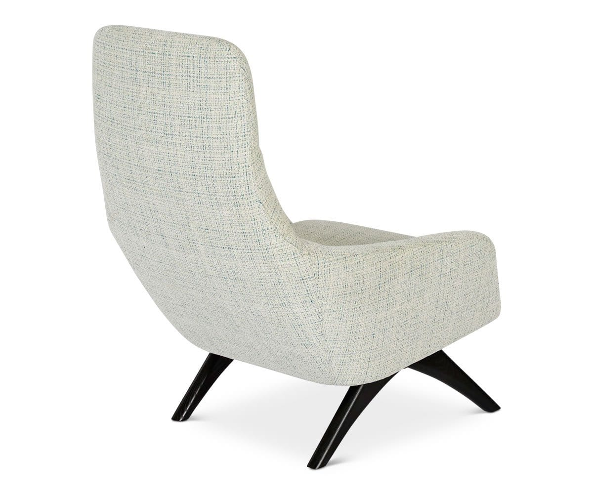 Cushioned vintage classic modern lounge chair