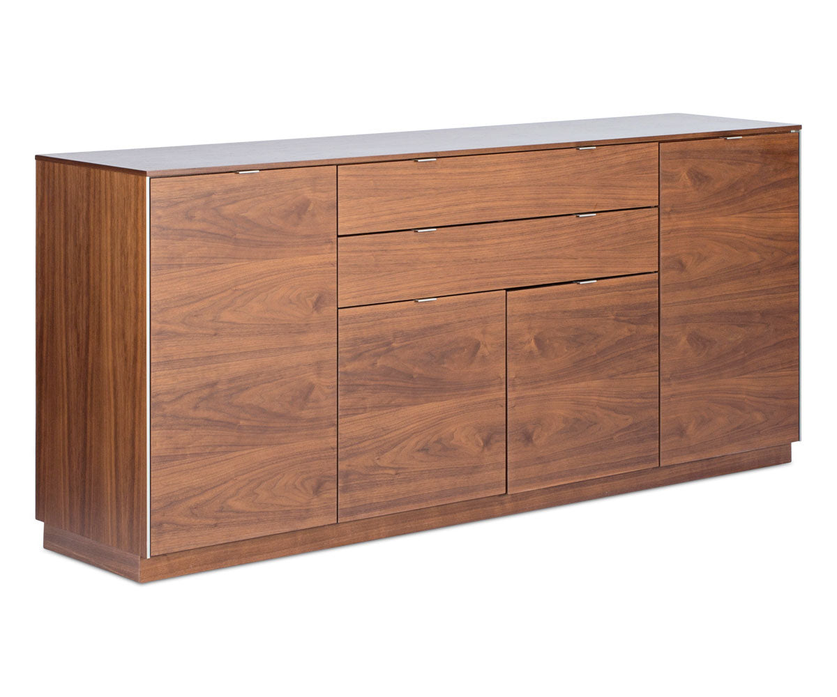 High quality walnut wood dining storage