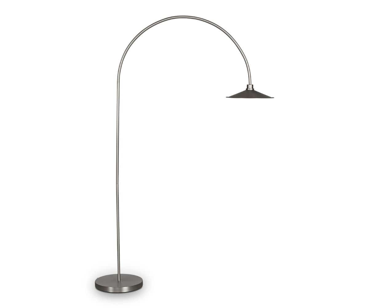 Skal Arch Floor Lamp - Nickel