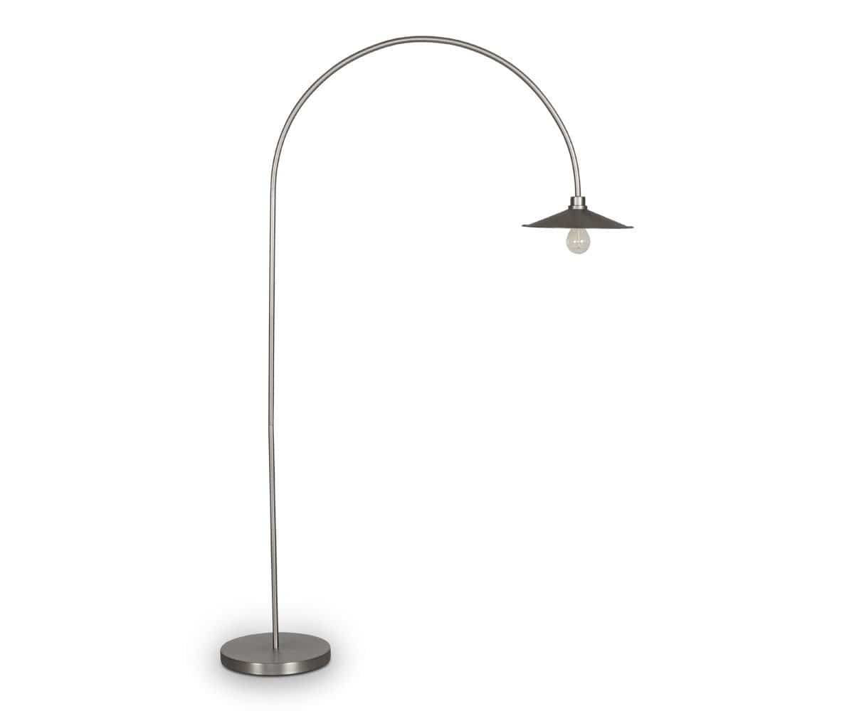Skal arch floor lamp nickel dania furniture skal arch floor lamp nickel mozeypictures Choice Image