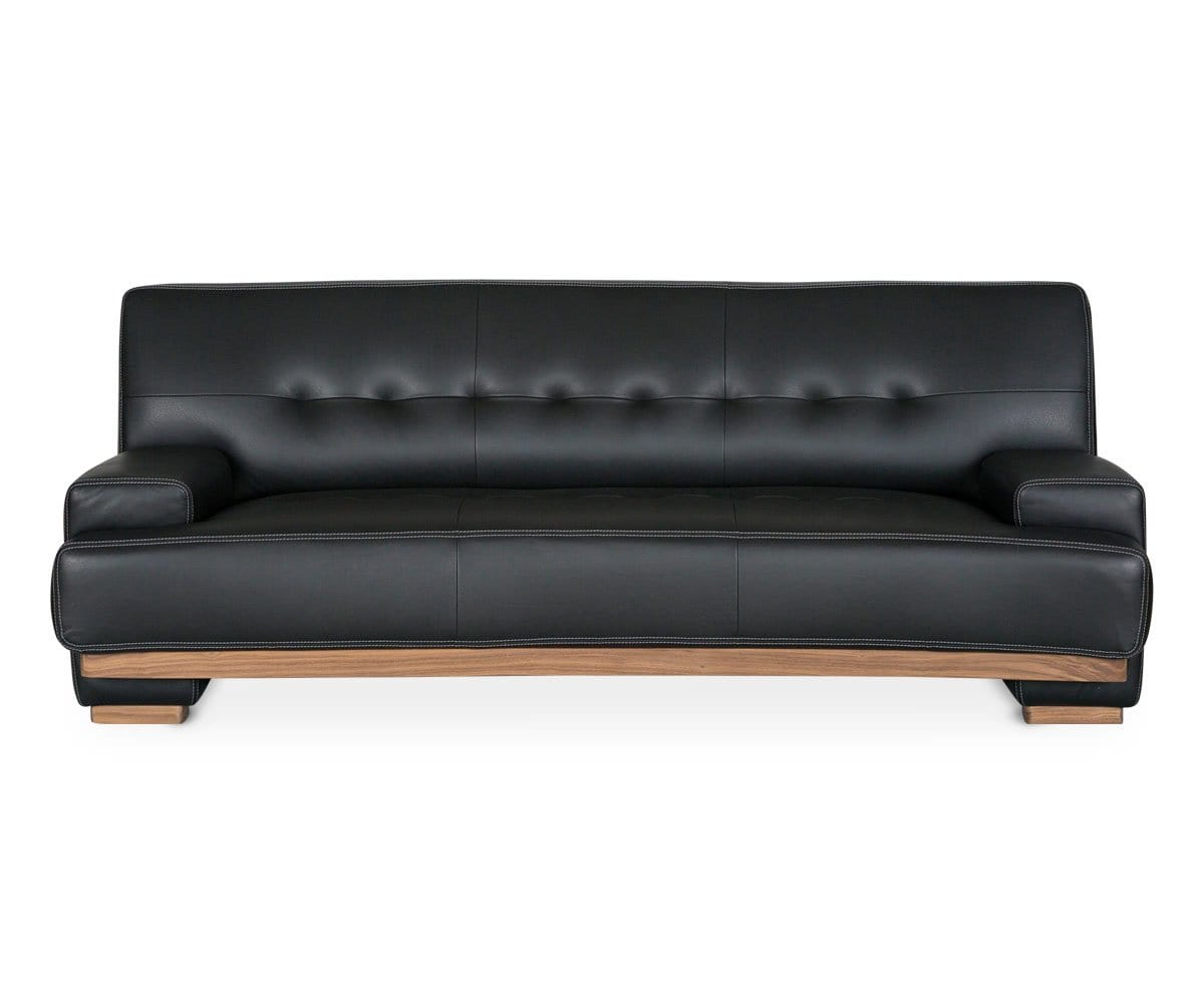 leather modern tufted sofa
