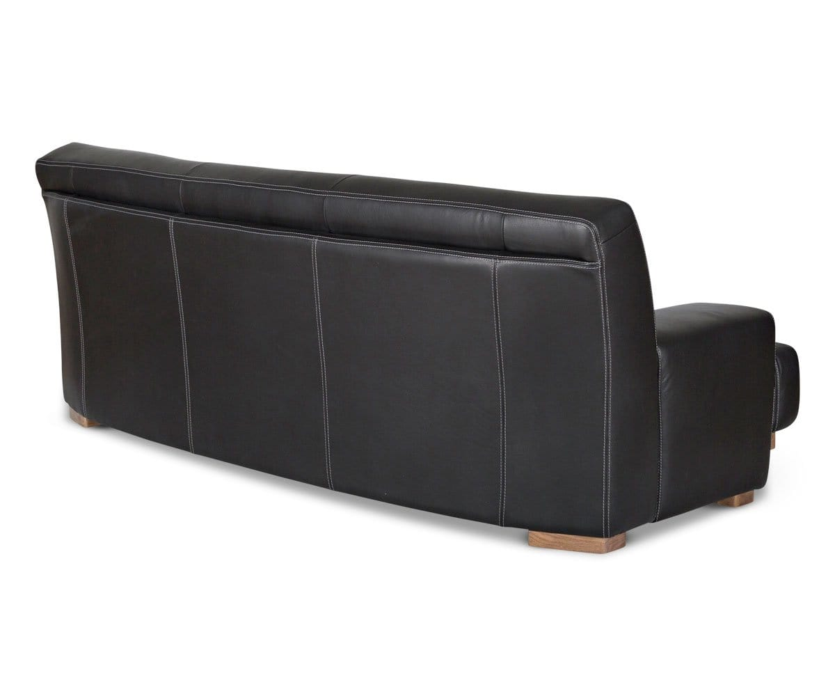 cozy leather sofa