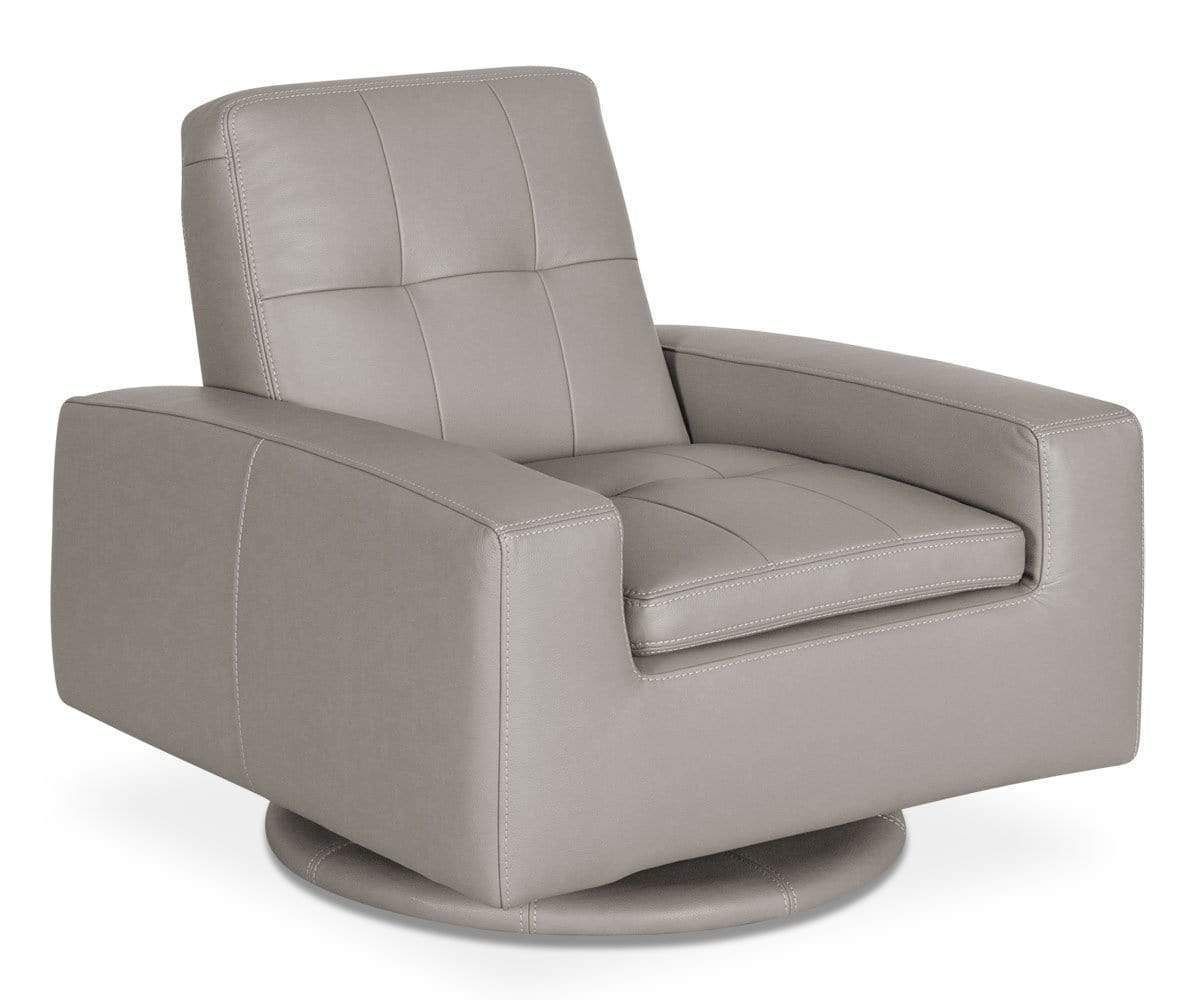 Francesca Leather Swivel Chair