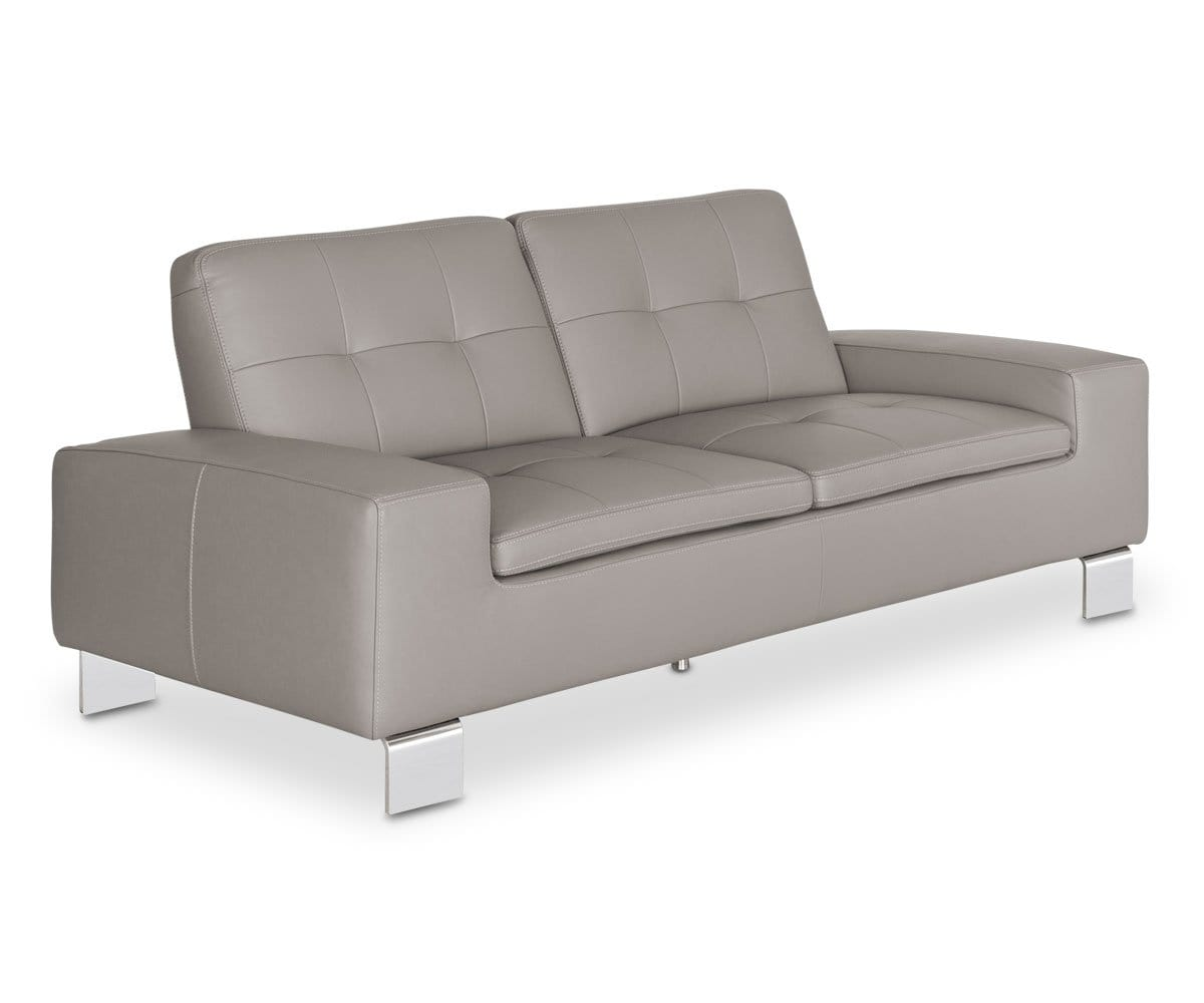 Francesca Leather Sofa Dania Furniture