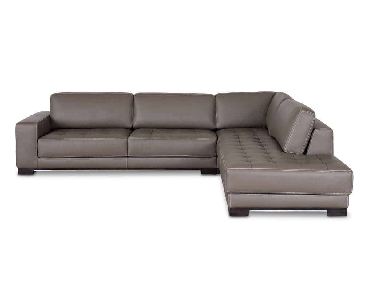 Andreas Leather Right Sectional
