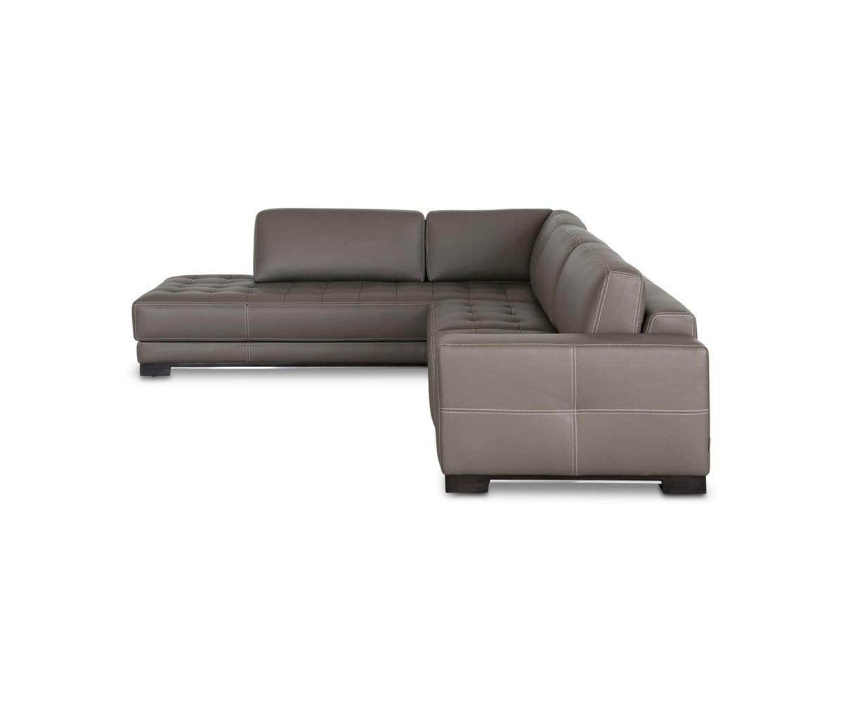Andreas Leather Left Sectional Dania Furniture