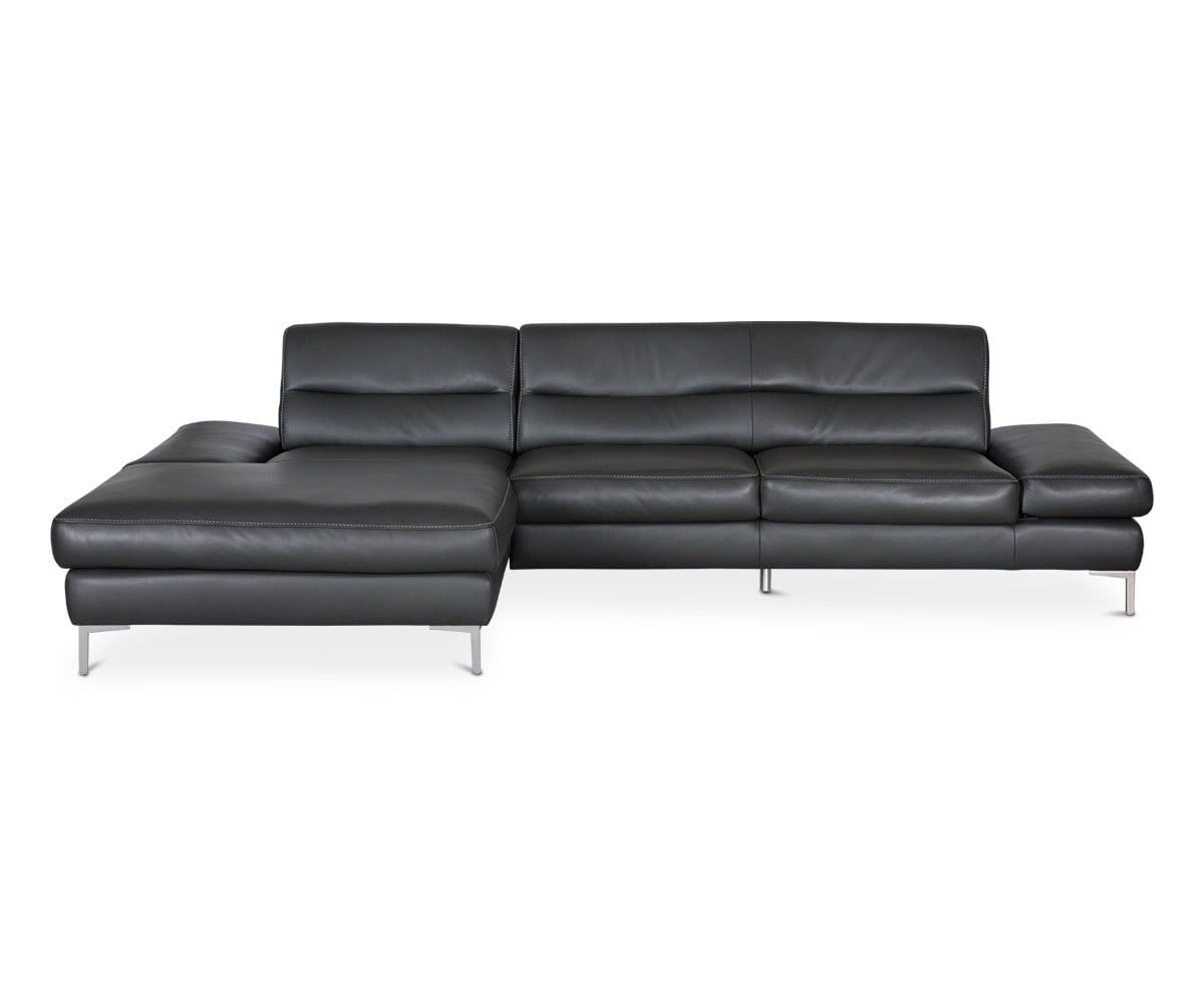 Campsis Leather Left Chaise Sectional