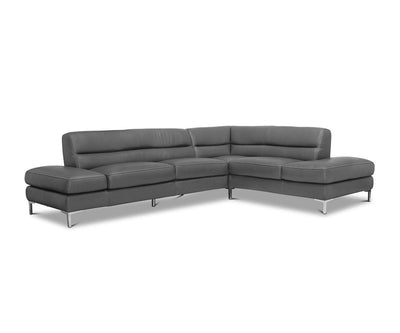 Campsis Leather Right Sectional