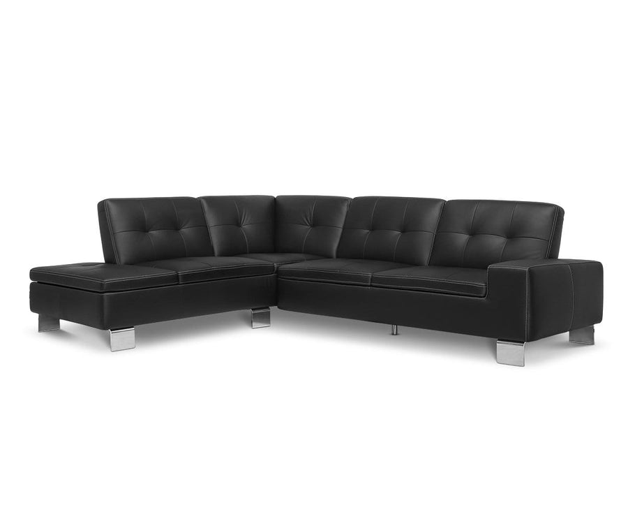 Francesca Leather Left Sectional