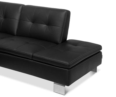 Francesca Leather Right Sectional