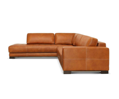 Andreas Leather Left Sectional