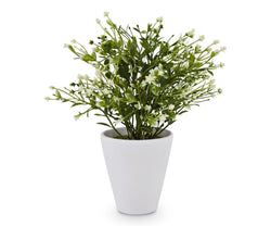 Potted Faux Flowering Plant