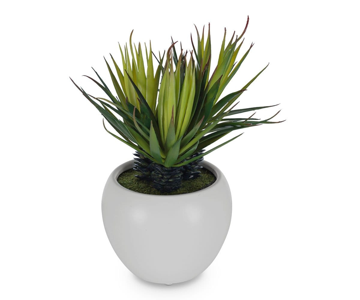 Small Potted Faux Palm