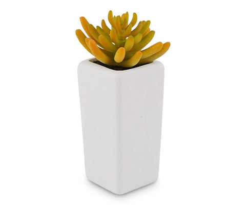 Tall Potted Golden Faux Succulent