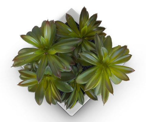 Small Potted Green Faux Succulent