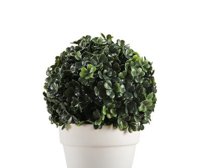 Potted Deep Green Faux Topiary