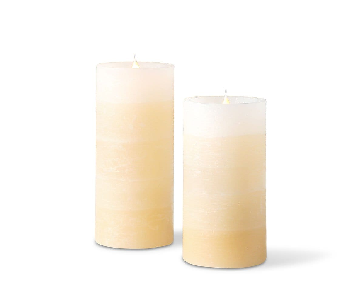 Lys Flameless Candles, Set of 2 - Peach Ombre