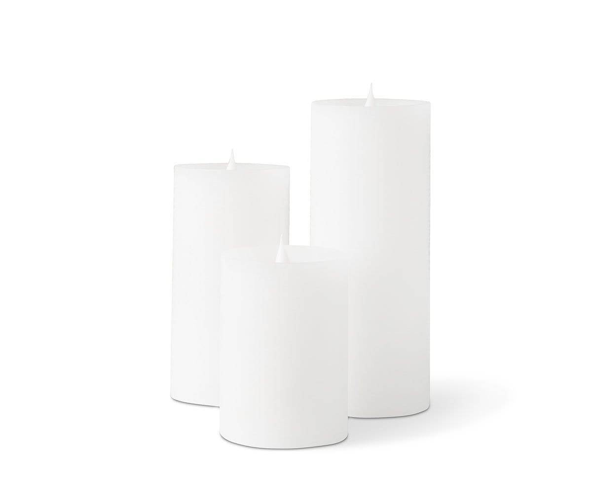 Lys Flameless Candle, Set of 3 - White