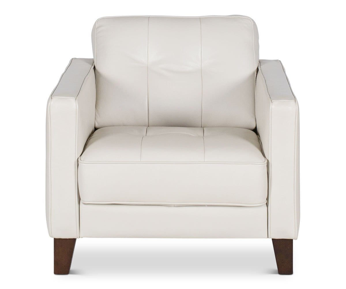 Gregata Leather Chair - Beige