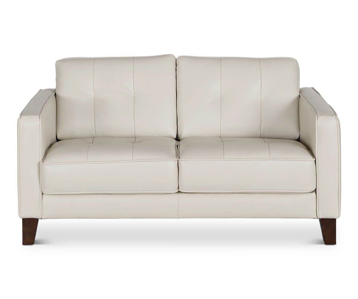 Gregata Leather Loveseat - Beige