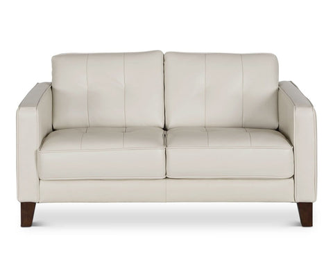 Gregata Leather Loveseat