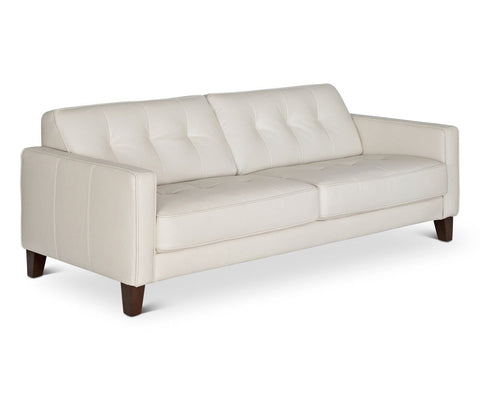 Gregata Leather Sofa - Beige
