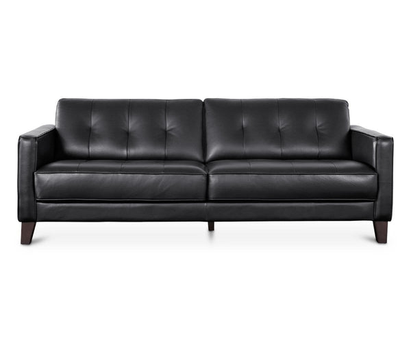 Astounding Gregata Leather Sofa Black Dania Furniture Gmtry Best Dining Table And Chair Ideas Images Gmtryco