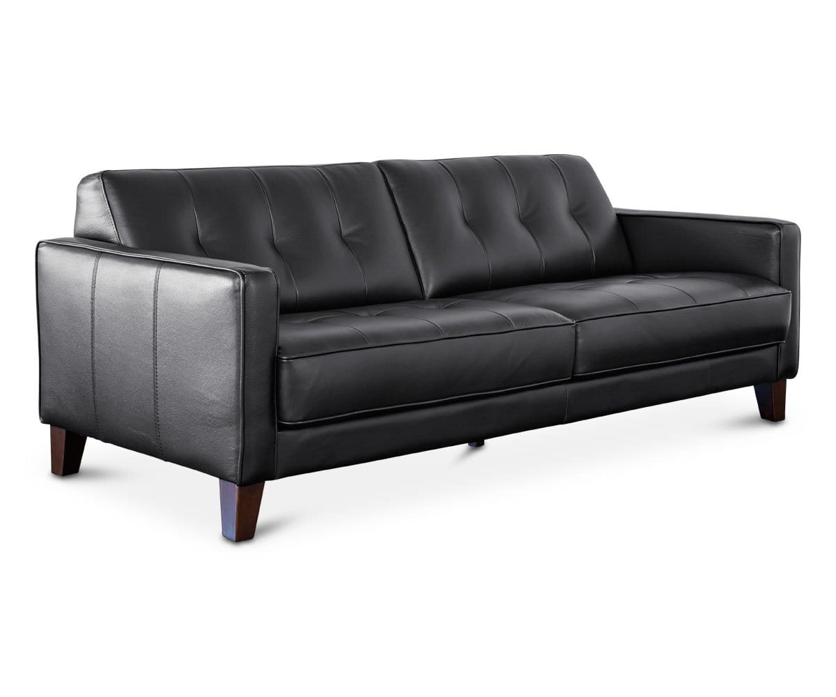 Remarkable Gregata Leather Sofa Black Dania Furniture Gmtry Best Dining Table And Chair Ideas Images Gmtryco