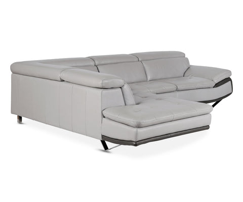 Meringa Leather Left Sectional