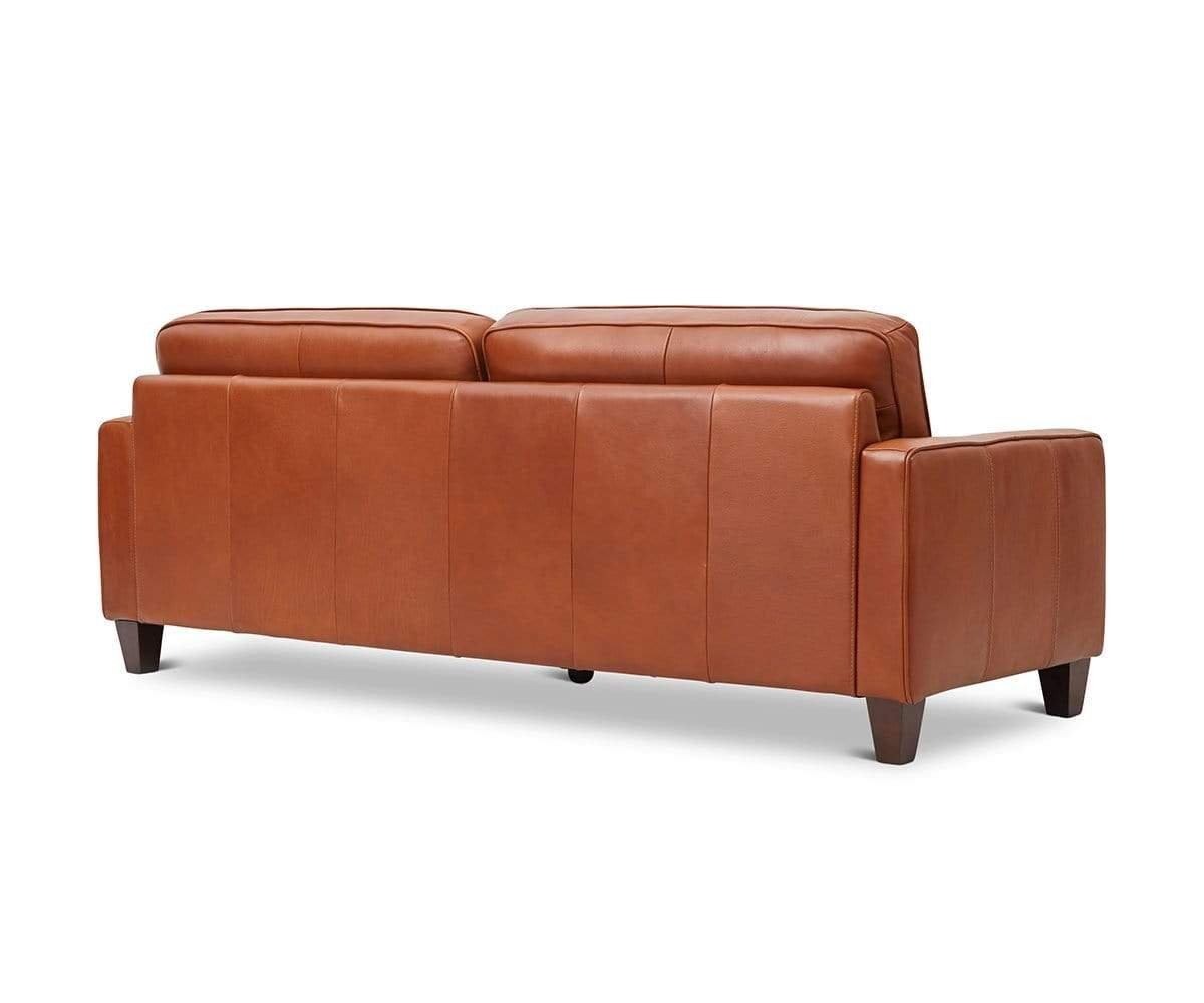 Modern Scandinavian leather sofa