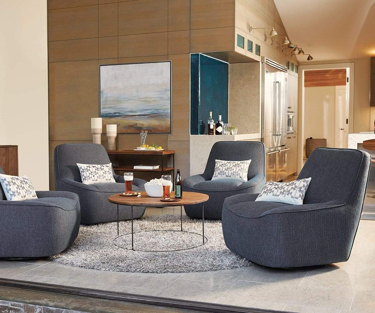 Round Coffee Table With Chairs.Leende Round Coffee Table Dania Furniture