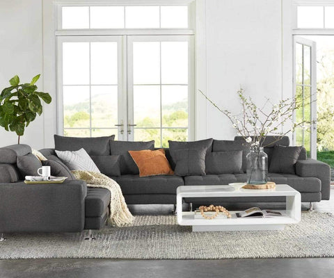 Contemporary Scandinavian tufted sectional