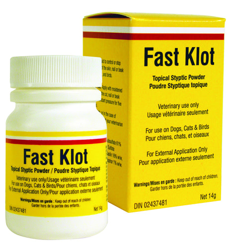 FAST KLOT 14G Stops superficial bleeding of the skin and nails for dogs, cats