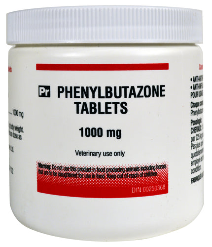 Phenylbutazone Tabs 100's Horse Supply anti-arthritic, anti-inflammatory. RX