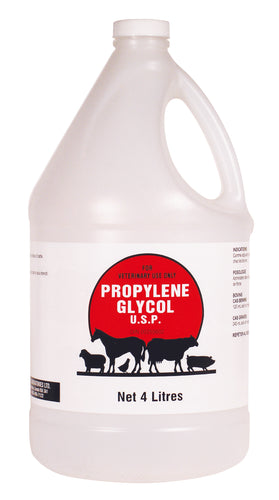 PROPYLENE GLYCOL 4L Cattle Supply treatment of acetonemia (ketosis) of cattle.