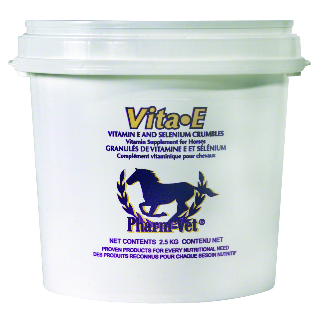 VIT-E W/SEL.CRUMBLES Horse feed is formulated to provide supplemental Vitamin E and Selenium.