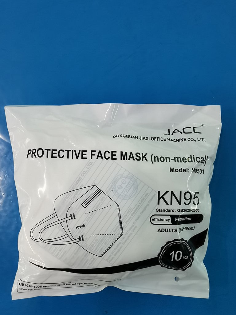 5-Ply KN95 Masks 10 Pack