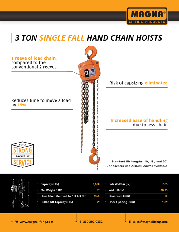 Hand Chain Hoist Flyer