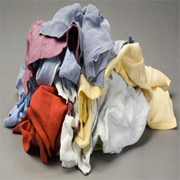 Color Fleece/Sweat Shirt Rags - 25 LB Box