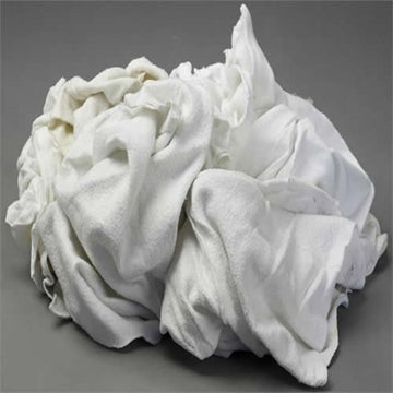 White Fleece/Sweat Shirt Rags - 25 LB Box
