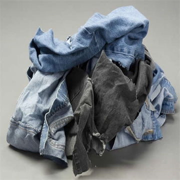Denim Wiping Rags - 10 LB Box