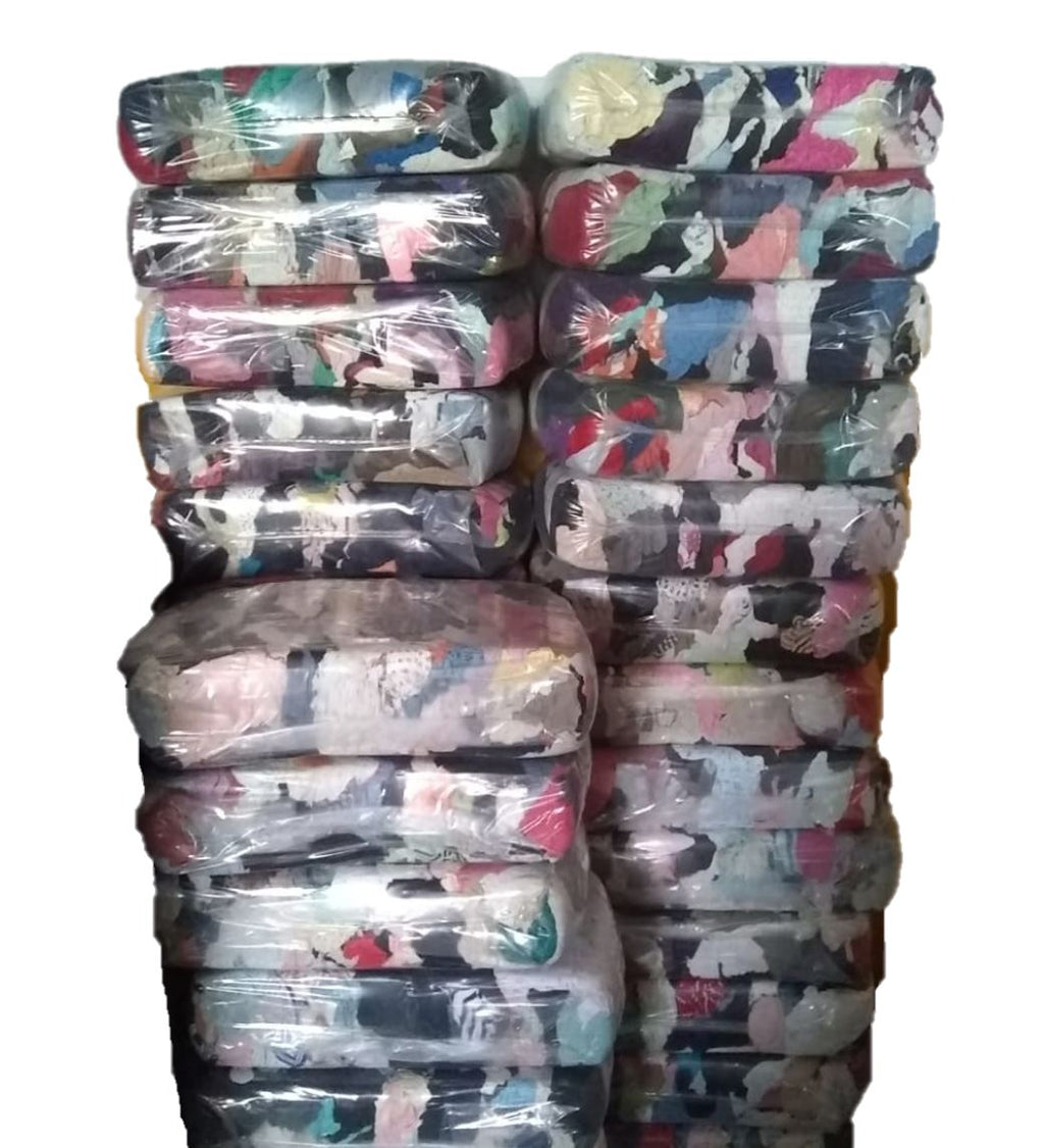 Color Terry Cloth Towel Rags in Bag 600 lbs. Pallet