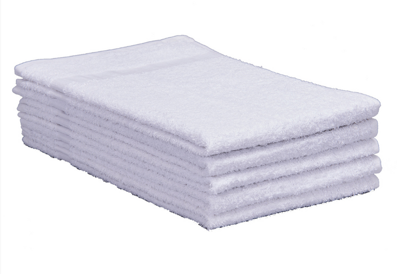 Cotton Terry Towels 16x27 Medium Weight White